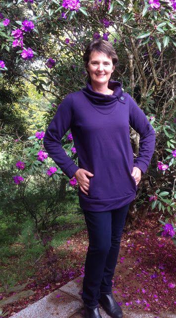 Paprika Patterns Jasper sweatshirt in merino fleece.