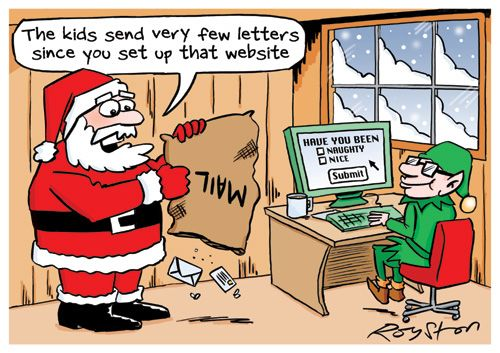 Santa website cartoon