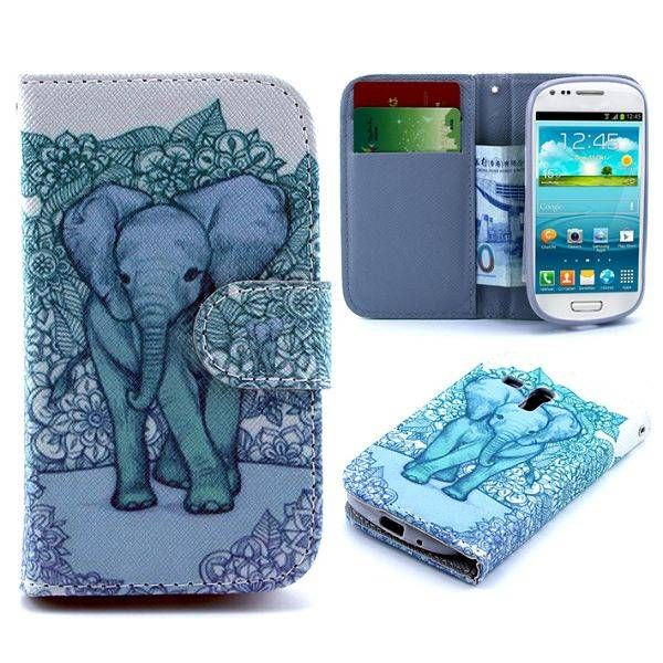 Olifant bookcase hoesje voor Samsung Galaxy S3 mini