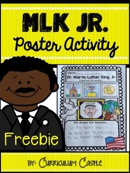 """This poster activity gives your students a chance to show their creative side as they draw and write """"All About"""" the life of Dr. Martin Luther King, Jr.  This is one activity from our larger MLK unit which can be found here: Dr. Martin Luther King, Jr."""