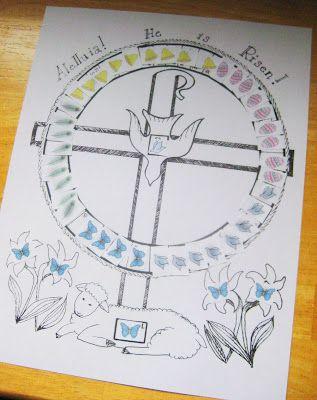 Printable Easter calendar - to Pentecost (Catholic blogger)