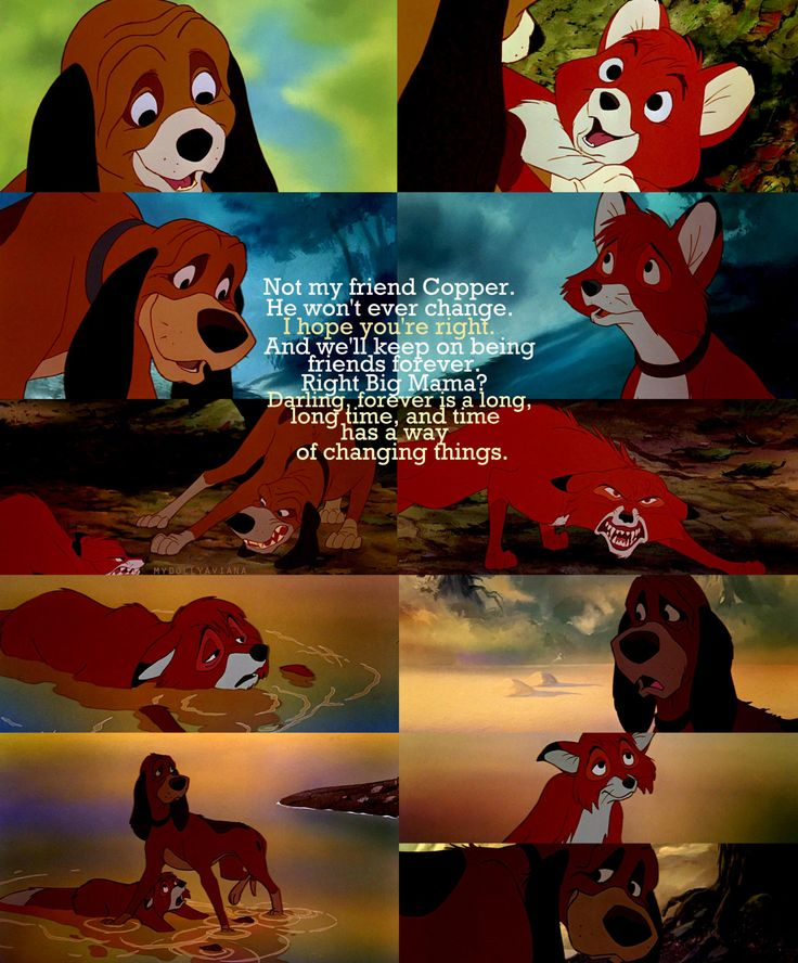 Daily Disney Film 24: The Fox and the Hound   This movie is always sadder than I remember