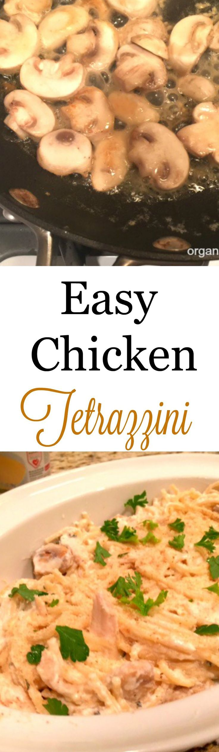 Warm up those evenings with this easy chicken tetrazzini recipe. Made with fresh ingredients and no condensed soup.