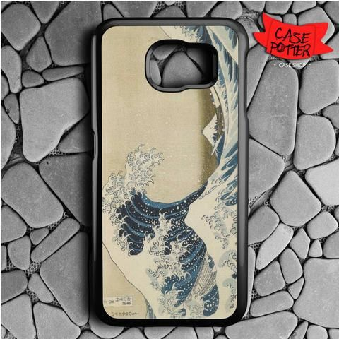 Hokusai The Great Wave Samsung Galaxy S7 Black Case