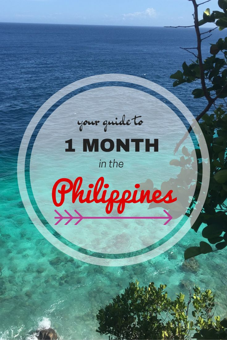 A guide to spending 1 month in the philippines. #travel