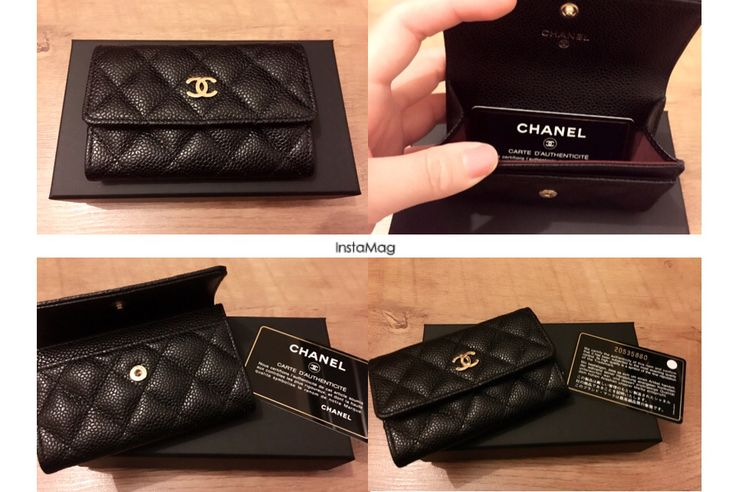 Chanel caviar card holder from love i got no idea what to