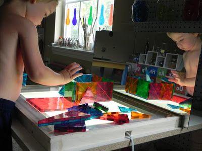 Espejo Exploración | Actividades para niños | Do It Yourself, Jugar con luz | Juego en la casa madre