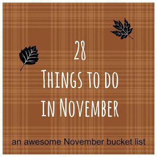 November Thanksgiving bucket list