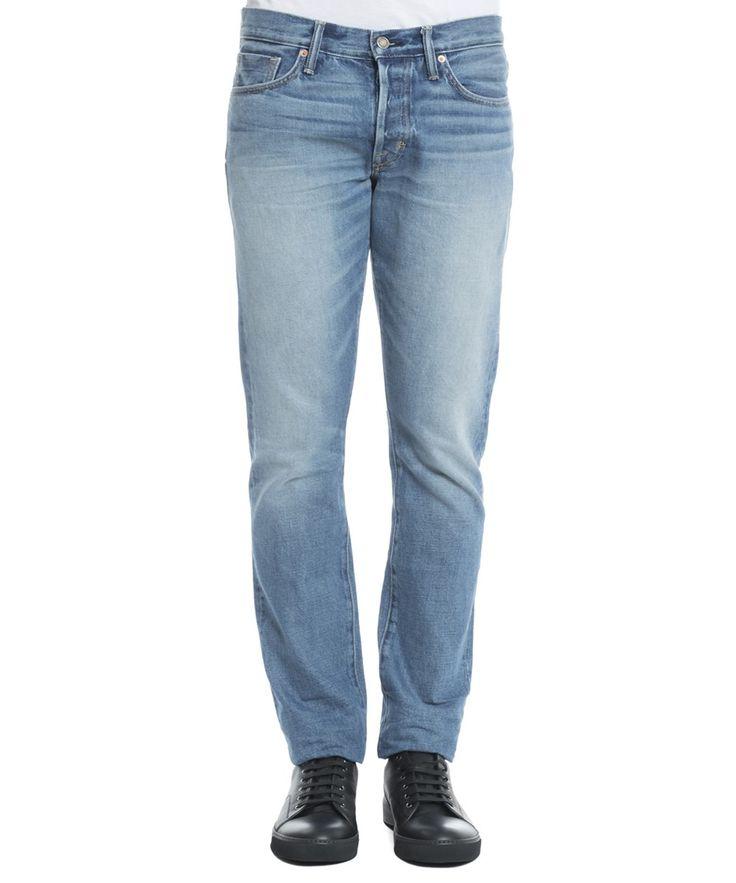 TOM FORD Tom Ford Men'S Bmj11Tfd001B51 Light Blue Cotton Jeans'. #tomford #cloth #jeans