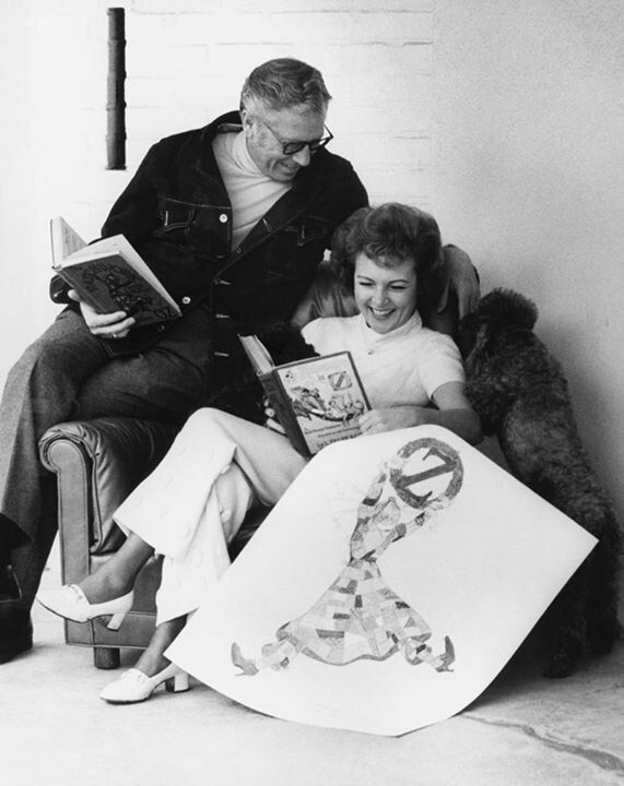 A young Betty White with her husband, Alan Ludden. She was widowed at a young age.