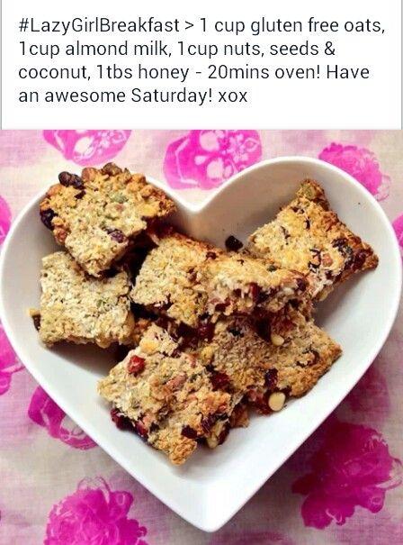 Carly rowena recipe for healthy breakfast bars