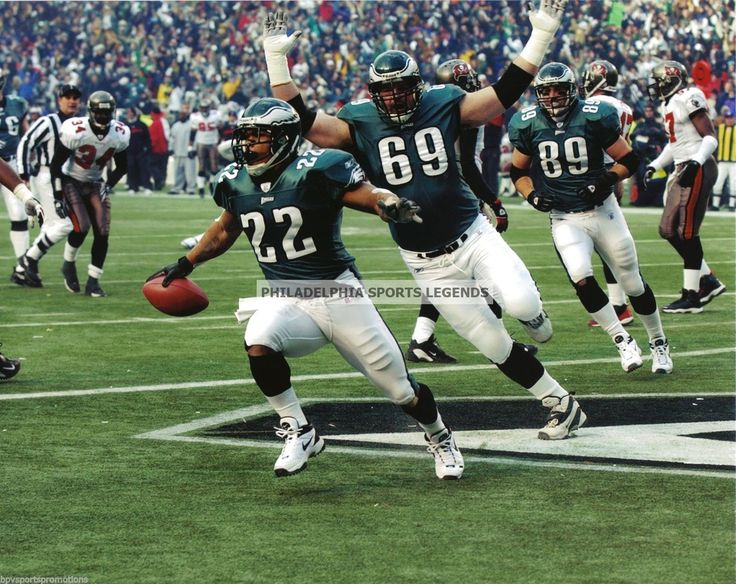 Duce Staley Philadelphia Eagles Touchdown Photo vs Tampa Bay NFC Championship | eBay