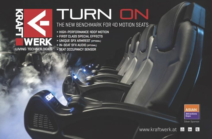 The new industry benchmark for 4D motion seats // www.kraftwerk.at