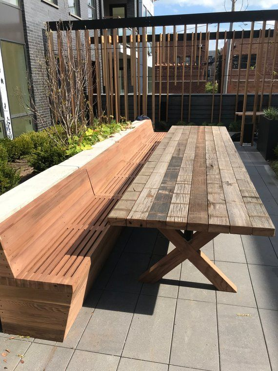 20 Ft Solid Wooden Redwood Long Bench For Both Indoor And Outdoor Use Wooden Bench Indoor Long Bench Wooden Wall Cladding
