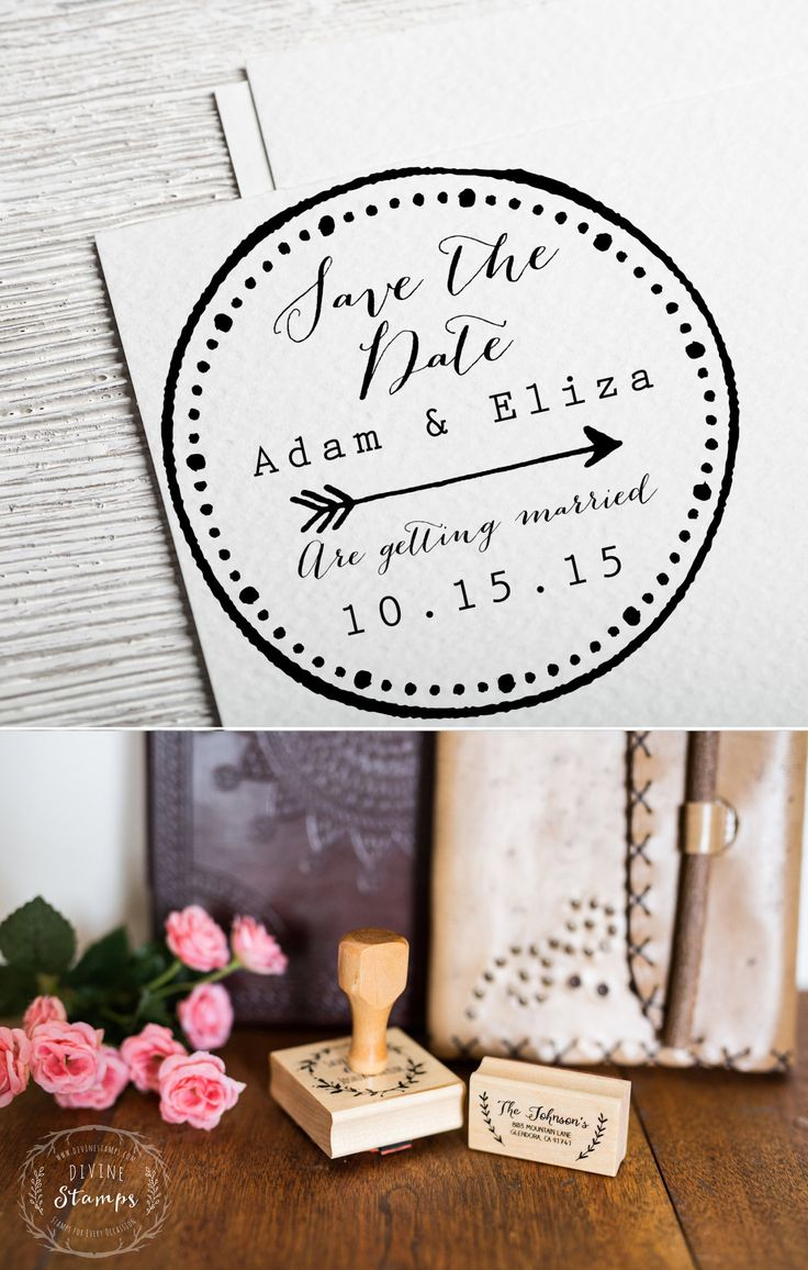 Save the Date envelope stamp
