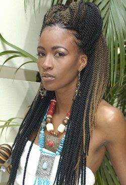 Purely Natural Photo Gallery. - I believe these are crocheted Senegalese twists and I love the technique, very neat