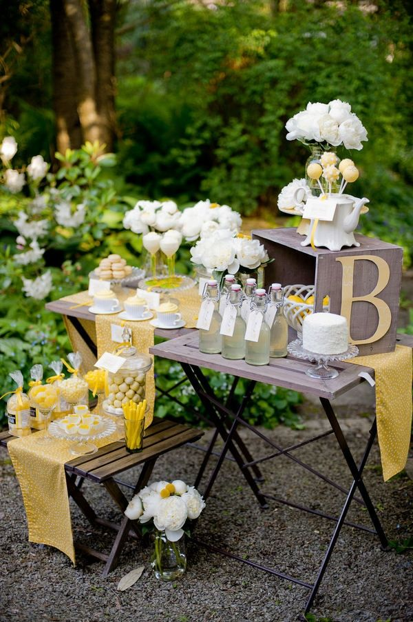 more of the darling yellow and white party