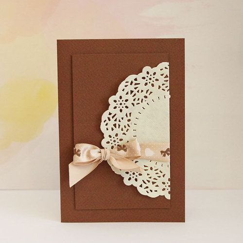Card in cocholate color by alsine design 2014