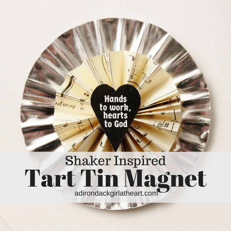 Shaker Inspired Tart Tin Magnet adirondackgirlatheart.com