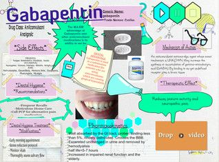 Gabapentin (Neurontin) is an anticonvulsant and analgesic drug. It was originally developed to treat epilepsy, and is currently also used to relieve neuropathic pain. It is recommended as a first line agent for the treatment of neuropathic pain arising from diabetic neuropathy, post-herpetic neuralgia, and central neuropathic pain. #Glogster #Gabapentin