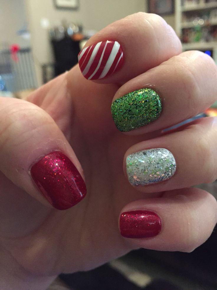 Christmas shellac nails | Christmas nail art #nailedit