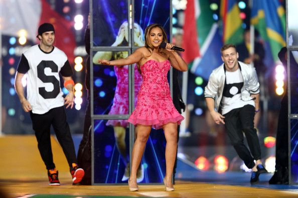 Jessica Mauboy Photos Photos - Singer Jessica Mauboy performs during the Closing Ceremony for the Glasgow 2014 Commonwealth Games at Hampden Park on August 3, 2014 in Glasgow, United Kingdom. - 20th Commonwealth Games: Closing Ceremony