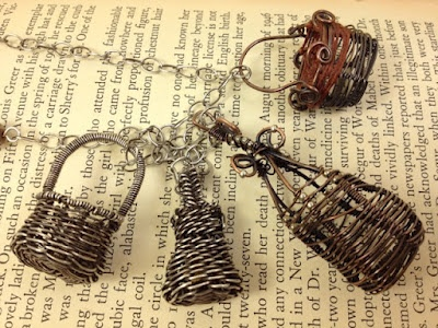 Hand made swap charms. They are tiny baskets, aren't they sweet? from Cynthia Deis