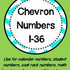 Looking for a way to add a little color to your classroom...then you've found it.  These chevron numbers can be used for a wide variety of purposes...