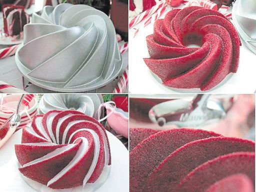 How cool does Red Velvet Cake look in this Heritage Nordic Ware pan....