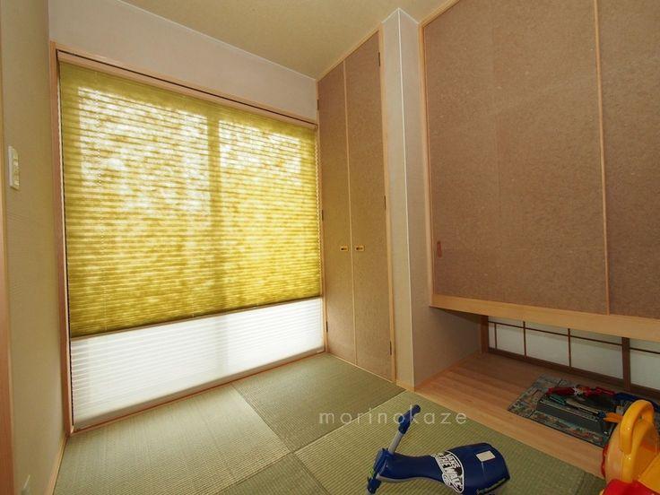 プリーツスクリーン ツインタイプ 和紙調 和室の窓