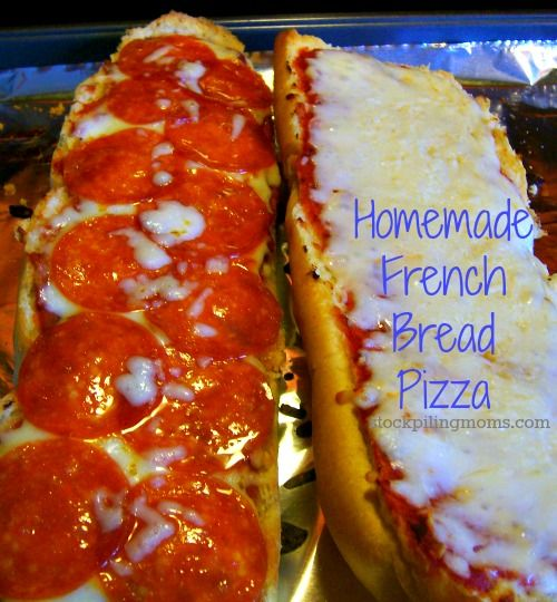 Homemade French Bread Pizza Recipe - Our Boys LOVE this!