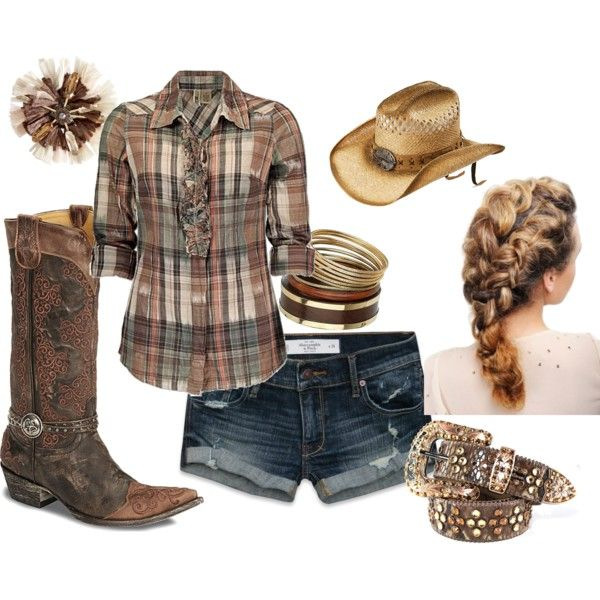 I FINALLY GOT POLYVORE TO WORK!!!!!!!! First outfit i made cute country! =D
