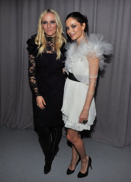 Fashion Designers Keren Craig and Georgina Chapman of the Marchesa label attend the Marchesa Fall 2011 presentation during Mercedes-Benz Fashion Week at Center 548 on February 16, 2011 in New York City.
