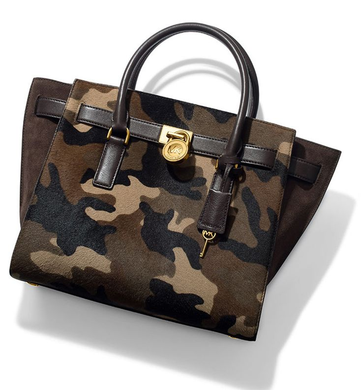 Michael Kors ● Hamilton Traveler Camouflage Hair Calf Satchel