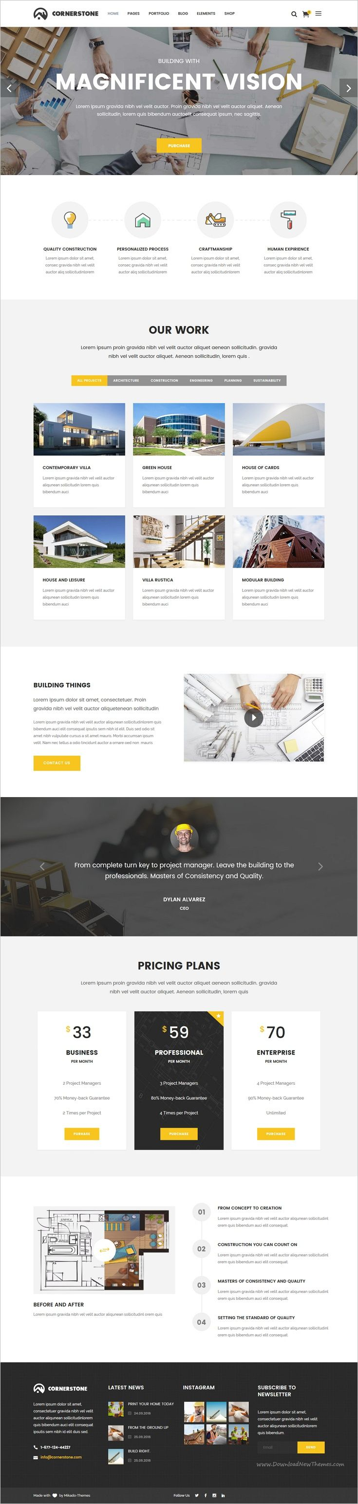 Cornerstone is a professional responsive #WordPress theme for #Construction, Builder & Contractor companies #website with 10 unique homepage layouts download now➩ https://themeforest.net/item/cornerstone-a-professional-construction-builder-contractor-theme/18939827?ref=Datasata