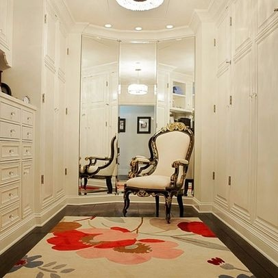 3 way mirror. Pretty rug too!