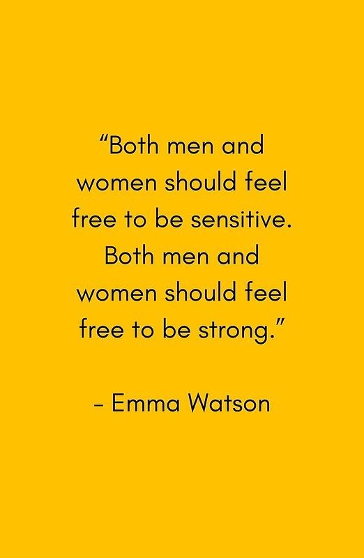 FEEL FREE TO BE SENSITIVE – FEMINIST QUOTE | Art Print
