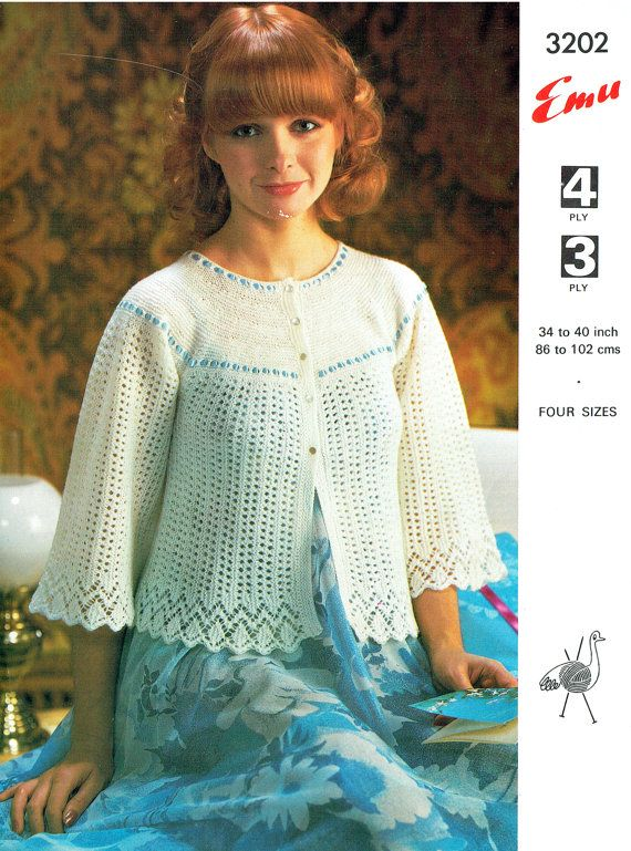 The 7 Best Bed Jackets Images On Pinterest Knit Patterns Crochet