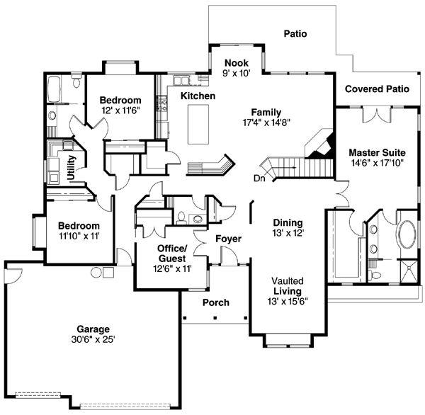 Saltbox Style 1 Car Garage Plan 65238: 45 Best Saltbox House Plans Images On Pinterest