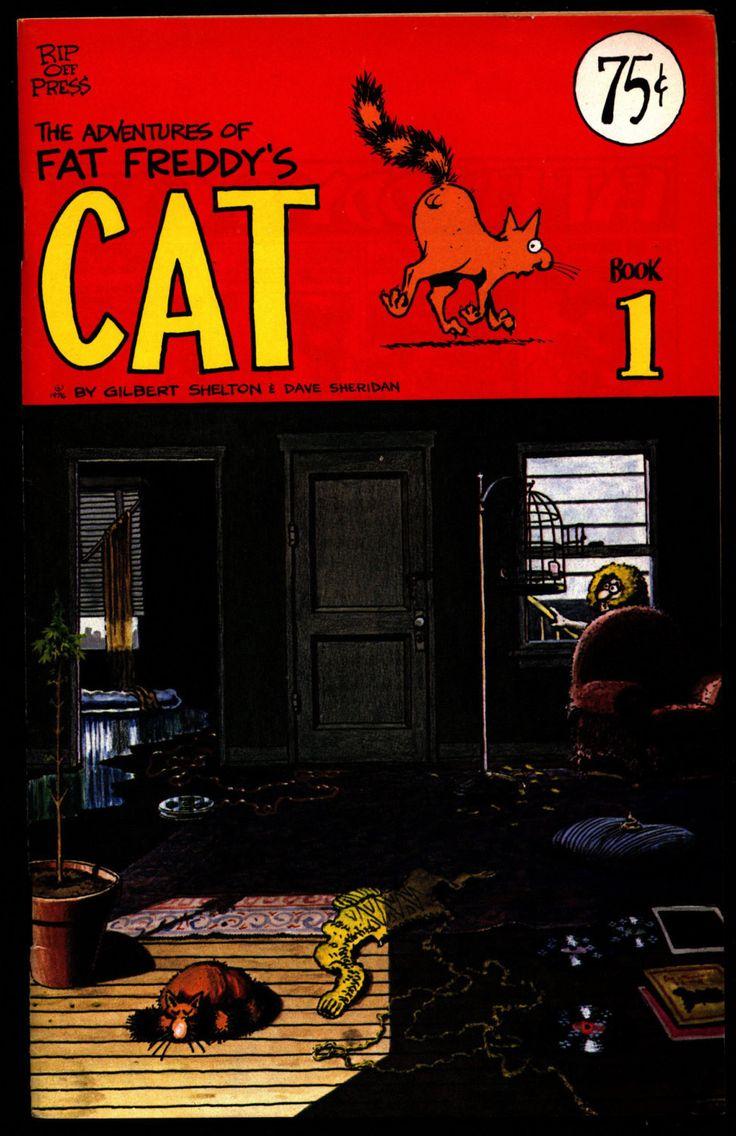 FAT FREDDY's CAT #1 Gilbert Shelton Dave Sheridan Fabulous Freak Brothers Digest Sized Underground Comics