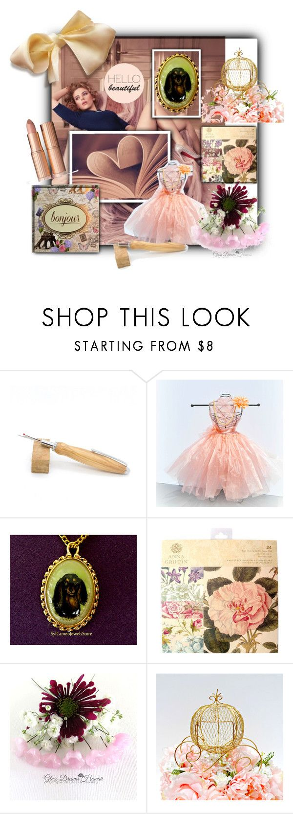 Etsy Princess for ONE Day Contest by sabine-713 on Polyvore featuring Anna Griffin