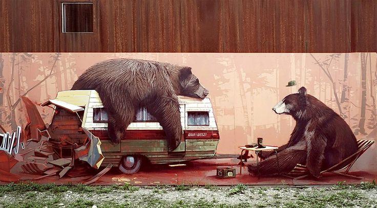 Playful Murals by Swiss Artist Wes21