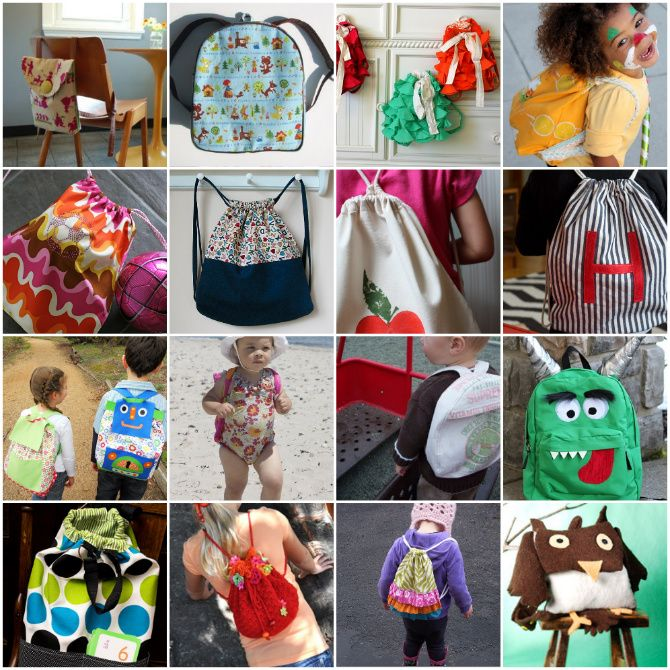 30 free sewing patterns for backpacks.