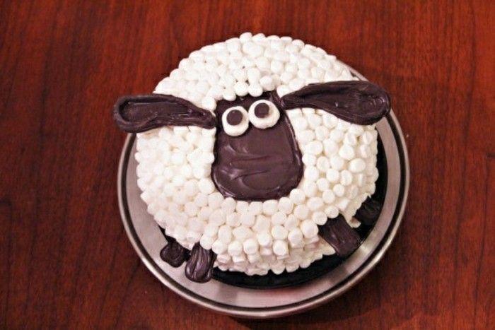 Kindergeburtstag Kuchen-Schaf-Motiv Funny Pie   – Essen süßes