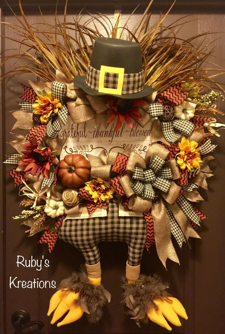 Thanksgiving Wreath - Turkey Wreath - Rustic Wreath