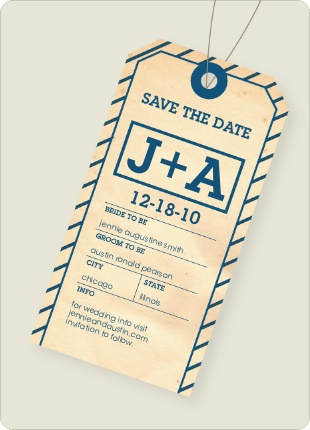 Good save the date luggage tags