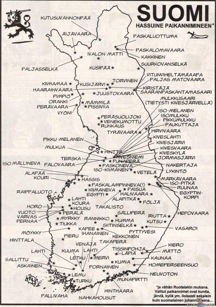 Suomalaisia paikannimiä