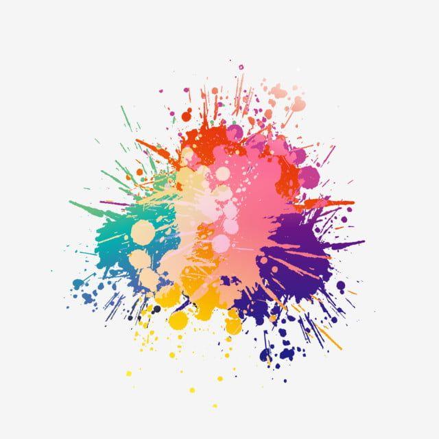Colorful Ink Ink Splash Effect Elements Vector Colorful Ink Png And Vector With Transparent Background For Free Download Splash Effect Watercolor Splatter Splash Images
