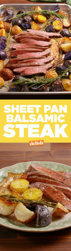Sheet Pan Balsamic Steak
