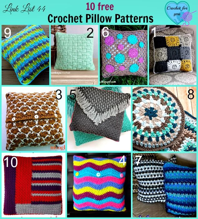 218 Best Crochet Cushions And Pillows Free Patterns Images On